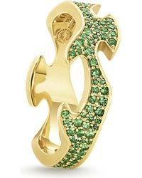 Georg Jensen | Fusion 18ct Yellow-gold And Green Tsavourite Ring | Lyst