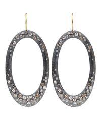 Todd Reed | Yellow Diamond Pave Hoop Earrings | Lyst