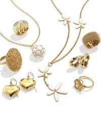 Roberto Coin - Metallic 18k Gold Diamond Flower Ring Size 65 - Lyst