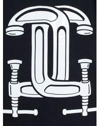Moschino | Black Interlocking C-clamp Print T-shirt | Lyst