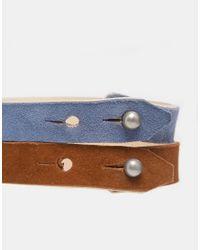ASOS - Multicolor Leather Bracelet Pack for Men - Lyst