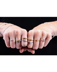 Lee Renee - Metallic Shell & Pearl Ring Silver - Lyst