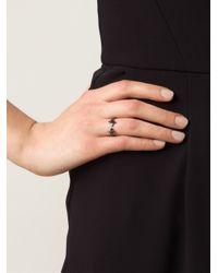 Vivienne Westwood Black 'Reina' Rings