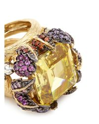 Anabela Chan - Metallic 'vine' 18k Gold Solitaire Citrine Cocktail Ring - Lyst