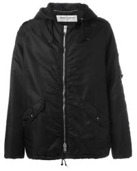 Saint Laurent - Black Hooded Padded Jacket for Men - Lyst