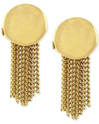 Vince Camuto | Metallic Gold-tone Chain Fringe Stud Earrings | Lyst