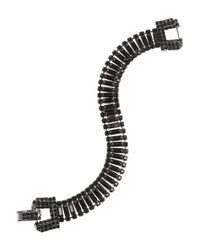 Tom Binns Black Rhodium-Plated Swarovski Crystal Bracelet