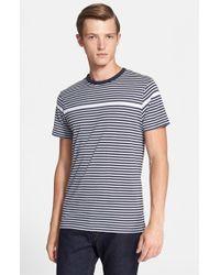 Sunspel Blue Stripe T-shirt for men