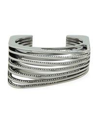 Vita Fede | Gray Futturo Segmented Gunmetal Crystal Cuff Bracelet | Lyst
