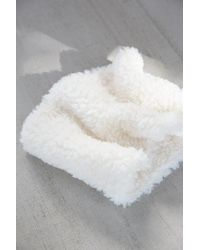 Urban Outfitters | White Cozy Plush Neckwarmer | Lyst