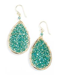 Panacea - Blue Crystal Teardrop Earrings - Lyst