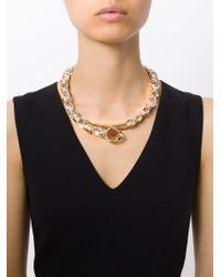 Roberto Cavalli - Metallic Swarovski Snake Necklace - Lyst