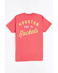 Urban Outfitters | Red Houston Rockets Vintage Logo Tee for Men | Lyst