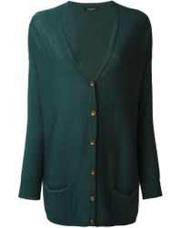 Roberto Collina - Green V-neck Cardigan - Lyst