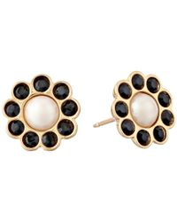 kate spade new york | Metallic Park Avenue Pearls Stud Earrings | Lyst