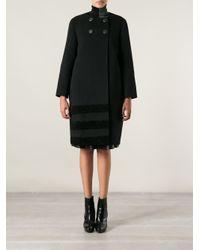 Fendi Black Double Breasted Coat