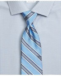Brooks Brothers - Blue Satin Framed Stripe Tie for Men - Lyst