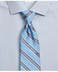 Brooks Brothers | Blue Satin Framed Stripe Tie for Men | Lyst