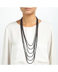John Lewis | Black Sparkle Multi Layered Long Necklace | Lyst