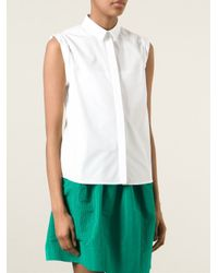 N°21 - White Perforated Back Shirt - Lyst