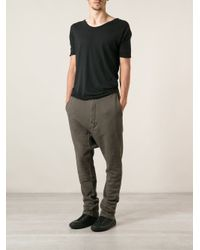 DRKSHDW by Rick Owens - Green Dropped Crotch Track Pants for Men - Lyst