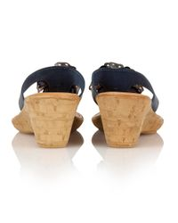 Lotus - Blue Polsa Wedge Sandals - Lyst