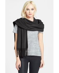 Nordstrom Collection | Black Cashmere Wrap | Lyst