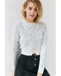 Glamorous - Multicolor Risen Texture Cropped Sweater - Lyst