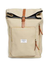 Sandqvist | Natural 'jerry' Canvas Roll Top Backpack for Men | Lyst