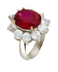 Carat* - Red Rosemond Ruby Cluster Ring - Lyst