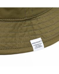 Norse Projects Green Foldable Light Ripstop Bucket Hat for men