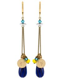 Isabel Marant | Blue Lucky Charm Earrings | Lyst
