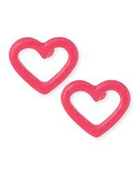 Marc By Marc Jacobs - Pink Open Heart Stud Earrings - Lyst