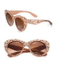 Dolce & Gabbana - Pink Mama's Brocade 53mm Cat's-eye Sunglasses - Lyst