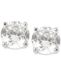 Kenneth Cole | Metallic Silver-tone Small Crystal Stud Earrings | Lyst