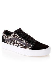 Vans Black Belmont Ivy Liberty Print Old Skool Skate Shoes