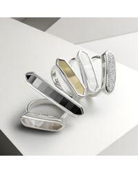 Monica Vinader Metallic Baja Long Ring