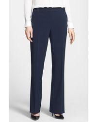 Anne Klein | Blue Straight Leg Pants | Lyst