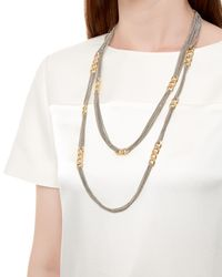 Jaeger Multicolor Curb Link And Chain Necklace