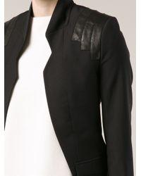 Unconditional Black Cut Out Back Blazer
