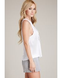 Forever 21 White Stay In Bed Pj Set
