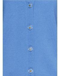 Tory Burch Blue 'Madison' Merino Wool Cardigan