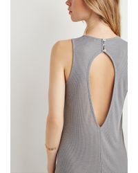 Forever 21 | Gray Ribbed Maxi Dress | Lyst