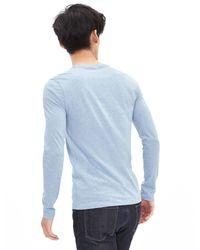 Banana Republic | Blue Soft-wash Long-sleeve Crew for Men | Lyst