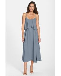 Paper Crown | Gray By Lauren Conrad 'britton' Tea Length Crepe Dress | Lyst