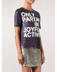 Ashish - Multicolor Joyful Sequin T-shirt - Lyst