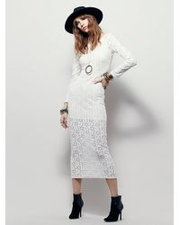 Free People | White Fp X Womens Fp X Greta Dress | Lyst