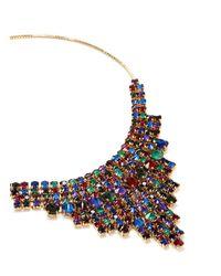 Erickson Beamon Multicolor 'hyperdrive' Swarovski Crystal Tiered Drop Necklace