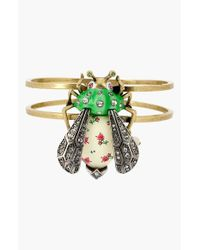 Betsey Johnson | Green 'vintage Bugs' Bee Hinged Bangle | Lyst