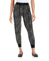 MICHAEL Michael Kors | Multicolor Patterned Velour Drawstring Pants | Lyst